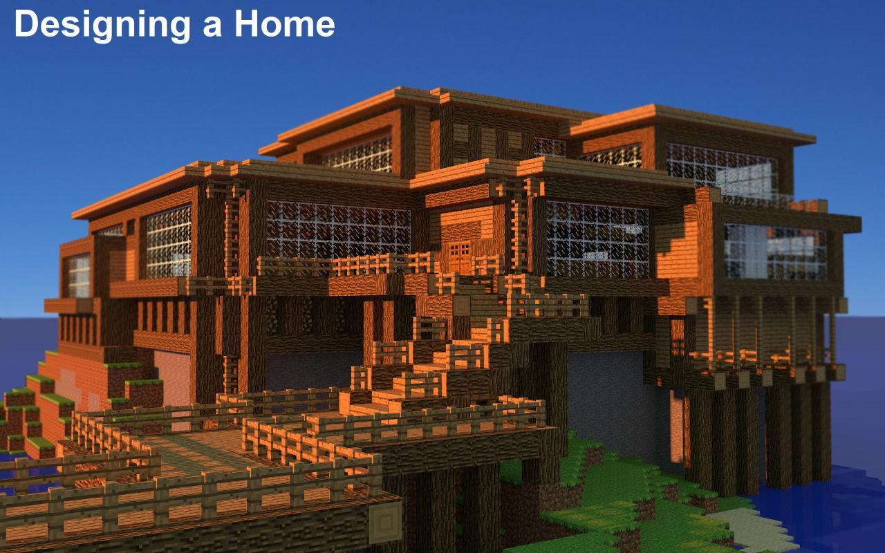 TUT Designing A Home Minecraft Blog - Designing a home