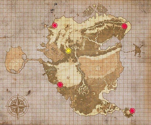 spawns marked red  worldspawn marked yellow