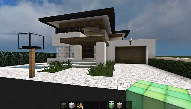 Minecraft huis - modern house 496 - Including map download ...