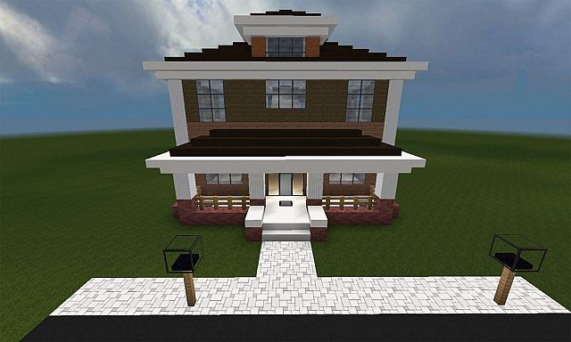 Minecraft Huis Country House 461 Including Map