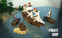 Pirate's Ship with Spanish Flag Minecraft Map & Project