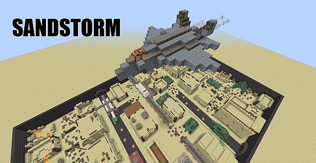 Sandstorm FirstPerson Shooter Map Minecraft Project - Minecraft shooter spiele