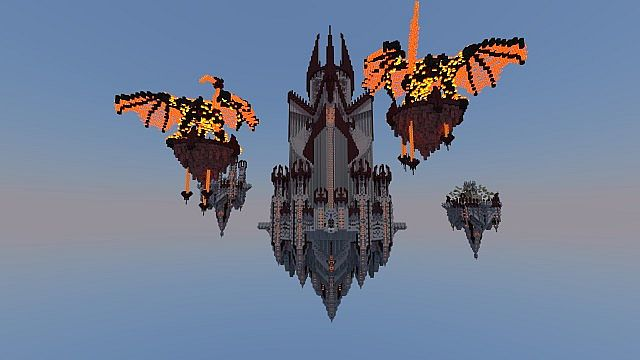 Flying Castle Minecraft