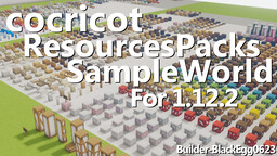 Block Sample World【cocricot ResourcesPacks/MOD】for 1.12.2 Minecraft Map & Project