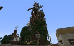 Steampunk Tower House Minecraft Map & Project