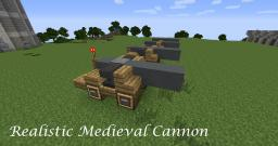 Realistic Medieval Cannon From the 1400s - 1700s + Tutorial Minecraft