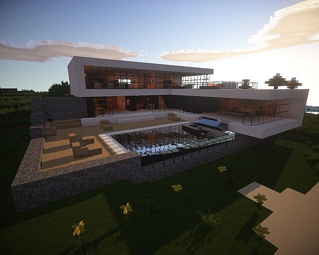 Beautiful minecraft villa minecraft project - Minecraft villa ...