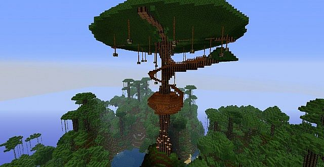 Cool Treehouse Project Minecraft Project