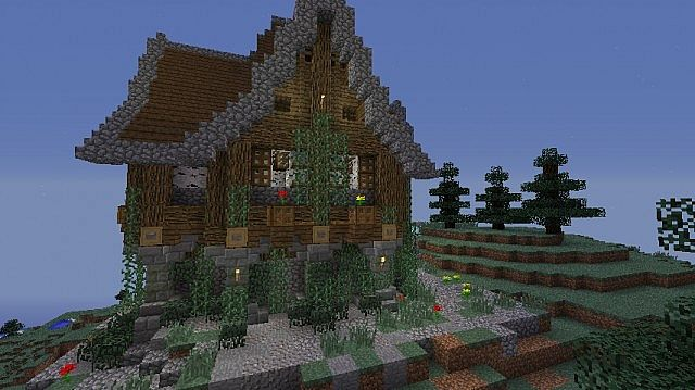 Medieval Mountain House Minecraft Map