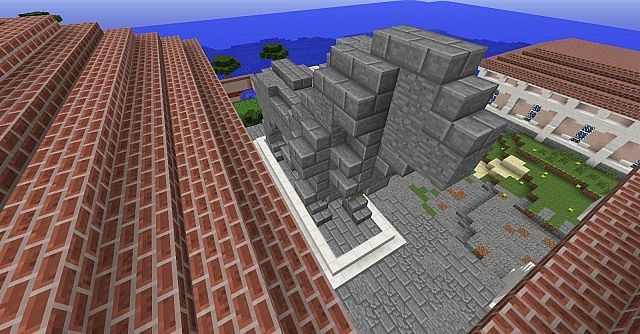 stone lion statues minecraft project