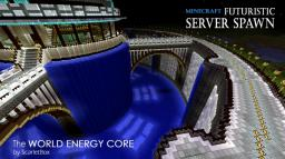 Futuristic Server Spawn V.2 - World Energy Core Minecraft Map & Project