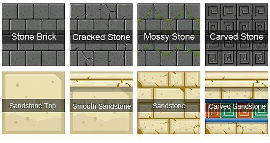 Stone Brick and Sandstone