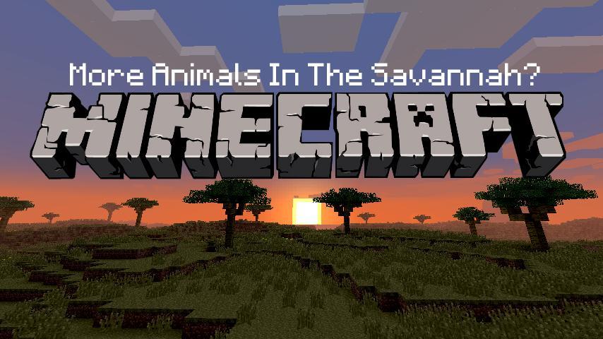 More Animals In The Savannah Biome Minecraft Blog