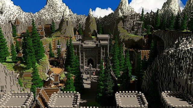 Riverton Castle Survival Games Map for Mineplex Minecraft Project