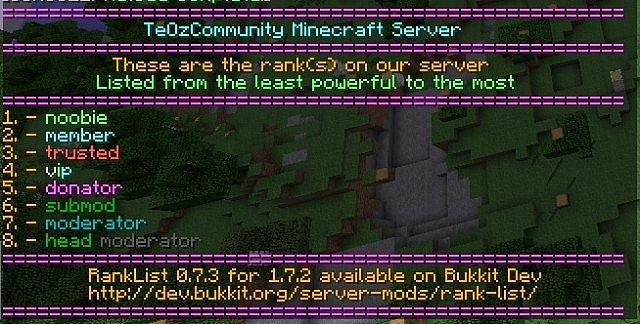 free ranks servers