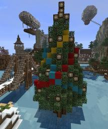Redstone Christmas Tree Minecraft Map & Project