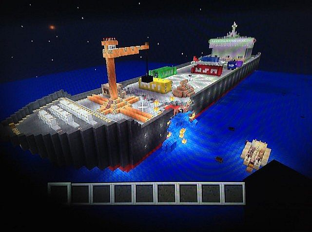 Original Xbox Game Ship : Cargo ship hunger games map xbox minecraft project