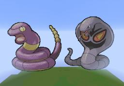 Ekans and arbok pixel art Minecraft Project