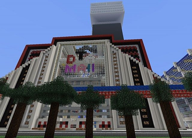 Wip largest mall in minecraft jumbo galleria minecraft for Craft com online shopping