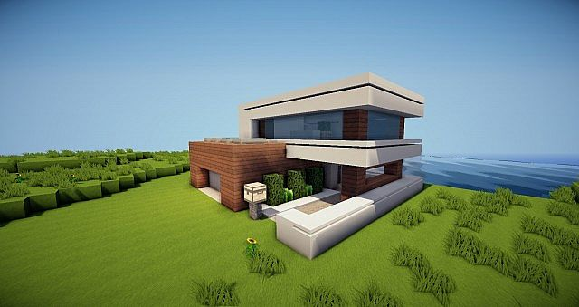 Small modern house 16x16 Minecraft Project