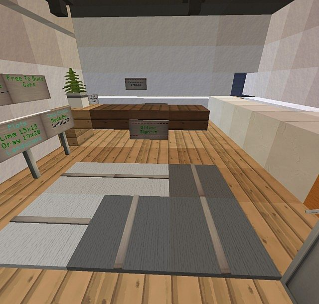 Modern Minmlist Office Interior Minecraft Project