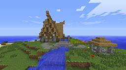 Nordic waterwheel farmhouse Minecraft Map & Project