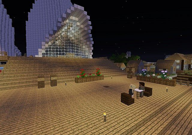 The main spawn area at the Opera House when you first join VampaMC