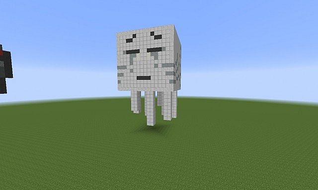 Ghast 3d Pixel Art Minecraft Project
