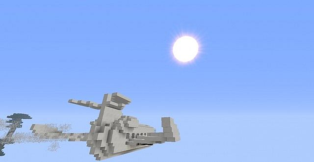 how to build a minecraft jet