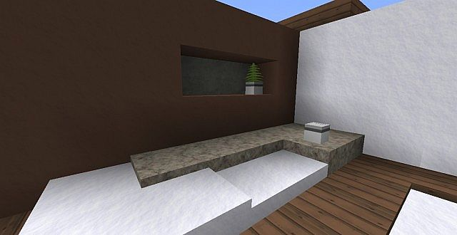 Modern minimalist interior designs living room for Minecraft interior design living room