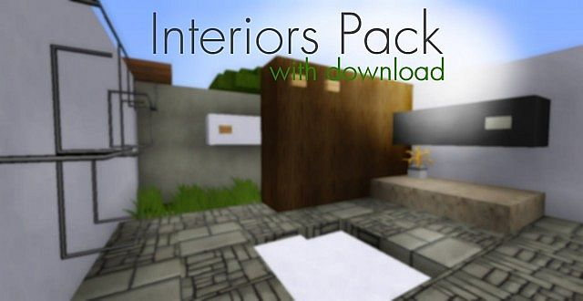 Modern minimalist interior designs living room minecraft project - Minecraft interior design ...