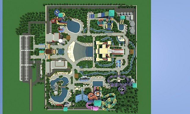 Caribbean Cove Water Park on Minecraft Hogwarts Castle Floor Plan