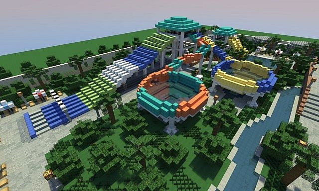 minecraft theme park maps with Caribbean Cove Water Park on Avonturenpark Hellendoorn moreover Aerial Map besides Micro park in rollercoaster tycoon 2 additionally Caribbean Cove Water Park further Watch.