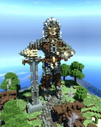 Statue: Epic bearded viking assassin warrior with hood handing flowers the manly way Minecraft Map & Project