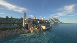 Modern Mediterranean Villa Minecraft Map & Project