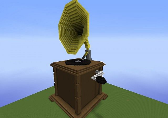 Phonograph Machine Record Player Minecraft Project