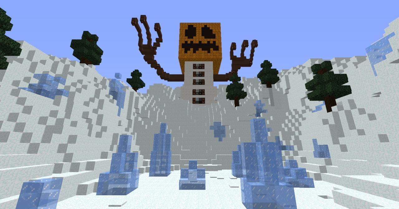 Minecraft snow golem recipe