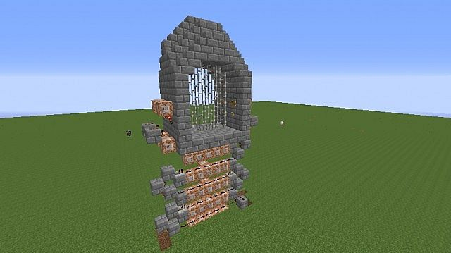 1.7] ~ Piston Operated Gatehouse ~ (With Portcullis) Minecraft Project