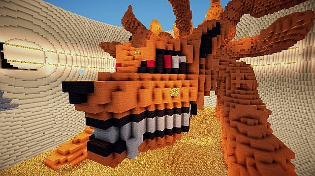 Nine-Tailed Demon Fox 3D (Kyuubi, Naruto) Minecraft Project