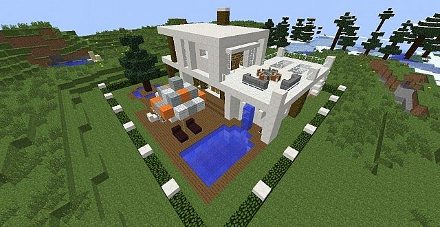 Casa moderna modern house minecraft project for Casa moderna gigante minecraft