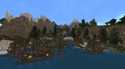 Elvish Fishing Port-Village [Rivendell inspired] (on Epic Landscape 1 by Jamziboy) Minecraft Map & Project