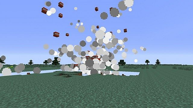 Many tnts are exploding in the air, where it cant destroy anything.