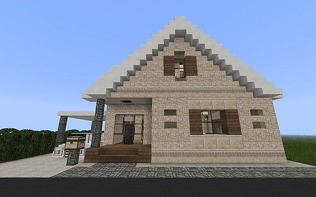 Vanilla Suburban House Minecraft Project