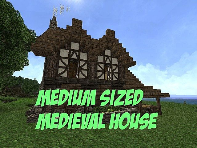 medium sized medieval house minecraft project