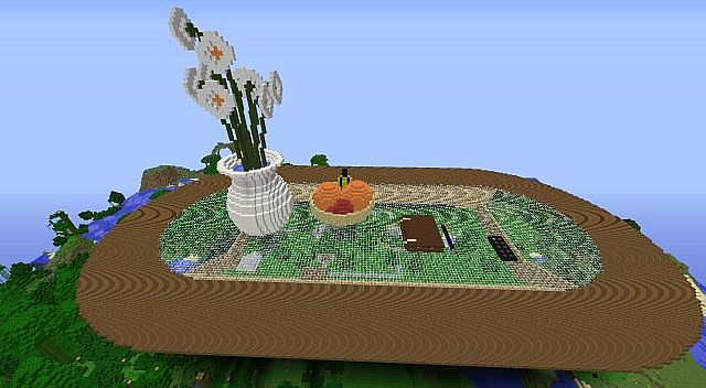 living room table as Piston House Minecraft Project