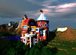 Royal Swag- A modern Castle / Hardcore Party Mansion ◕‿◕ Minecraft