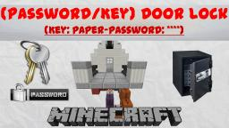Minecraft Password / Key- Door Lock | 1.7 - V2 Minecraft Project