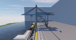 Quayside Container Crane Minecraft Map & Project