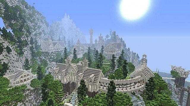 Building Fantasy Mountains In Minecraft