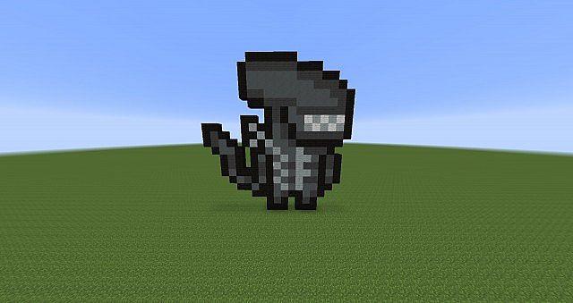 Pixel Art ALIEN Minecraft Project